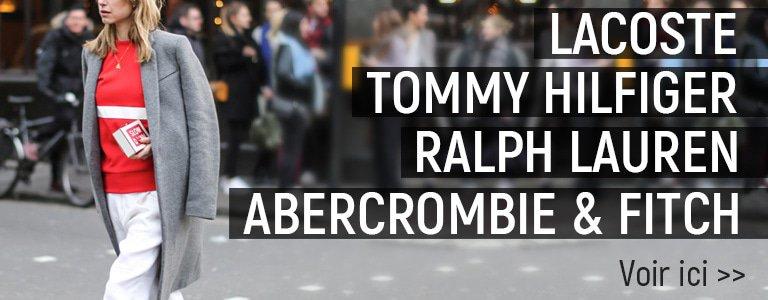 Lacoste, Tommy Hilfiger, Ralph Lauren, Abercrombie