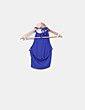 Top corto azul escote espalda Forever 21