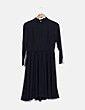 Vestido midi negro manga larga Suiteblanco