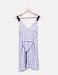 Vestido de tirantes rayas blancas y azules Tommy Hilfiger