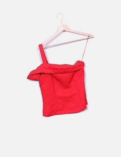 Blusa roja texturizada