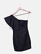 Vestido negro asimétrico texturizado Suiteblanco