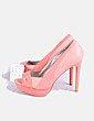 Zapato coral peep toe combinado Suiteblanco