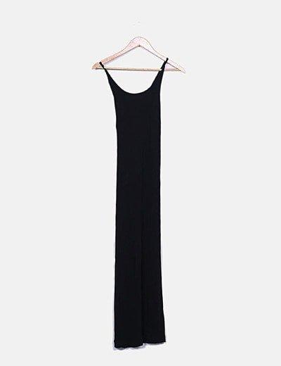 Vestido largo negro de tirantes