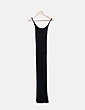 Vestido largo negro de tirantes Promod