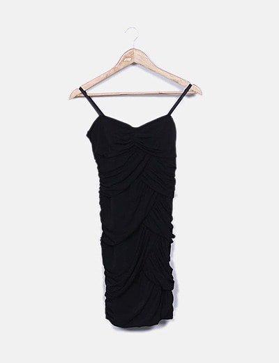 Vestido negro tirantes bandage