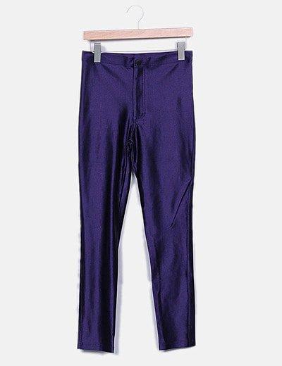 Pantalon morado irisado
