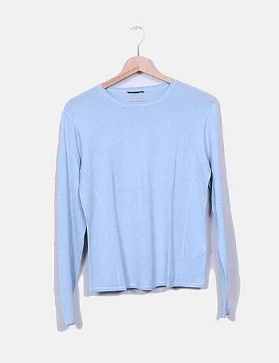 Camiseta punto azul