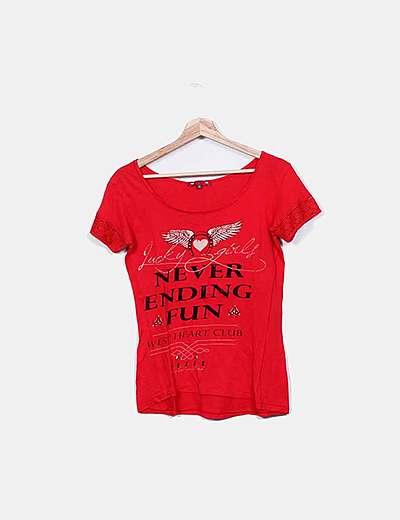 Camiseta roja print