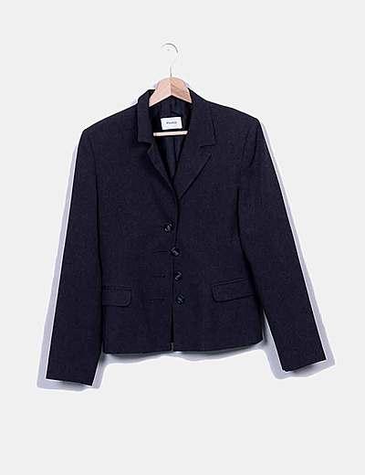 Conjunto blazer y falda gris