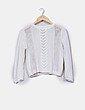 Jersey de punto abierto blanco Zara