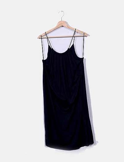 Vestido de alças Massimo Dutti