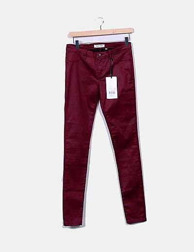 Jeans burgundy encerados
