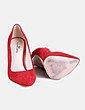 Zapatos salón ante rojo Gloria Ortiz