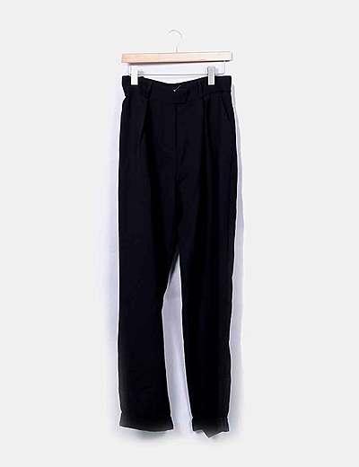 Pantalón largo negro fluido