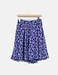 Falda midi azul floral Suiteblanco