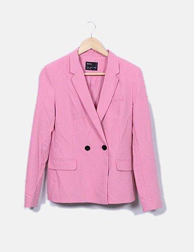 Traje chaqueta y pantalón rosa