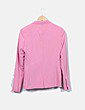 Traje chaqueta y pantalón rosa Bershka