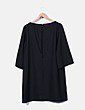 Vestido negro oversize detalle espalda Suiteblanco