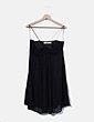 Vestido gasa negro Zara
