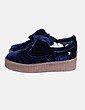 Zapatillas terciopelo azul Gioseppo