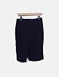 Pantalón fluido azul marino cruzado Zara