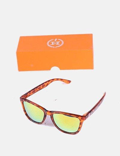 Gafas de sol naranjas animal print
