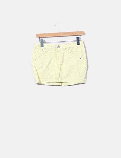 Mini falda denim amarillo