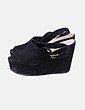 Sapatos de cunha Bershka