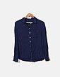 Camisa azul marino Mango