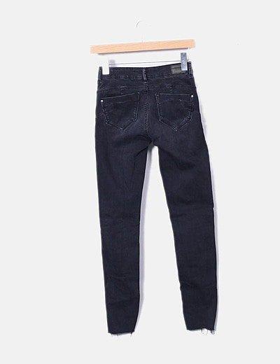 Bershka Pantalon Vaquero Negro Con Rotos Descuento 71 Micolet
