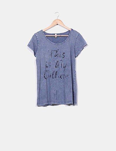 """Camiseta efecto desgastado""""This is my culture"""""""