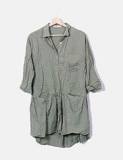 Vestido denim verde