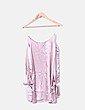 Vestido satén rosa mangas lazo Paula Junyent