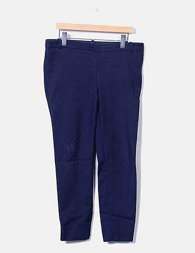 Zara Pantalon Azul Marino Chino Elastico Descuento 73 Micolet