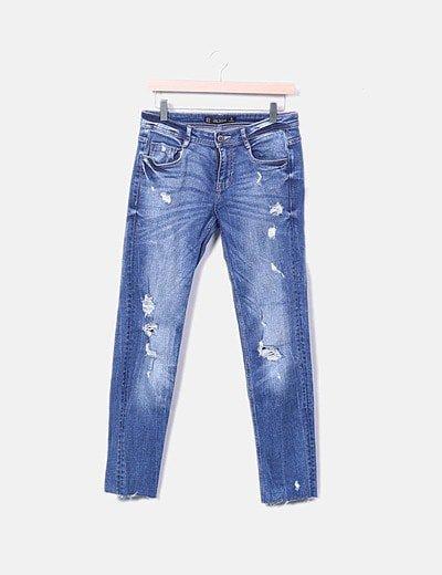 Jeans desgastados ripped