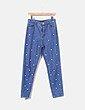 Jeans denim azul con perlas Uterqüe