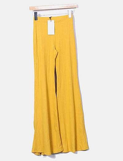 Bershka Pantalon Amarillo Canale Campana Descuento 67 Micolet