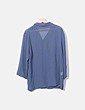 Traje azul de chaqueta y falda Atian