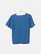 Blusa azul turquesa combinado Mango