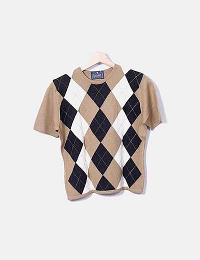 Camiseta de punto con rombos
