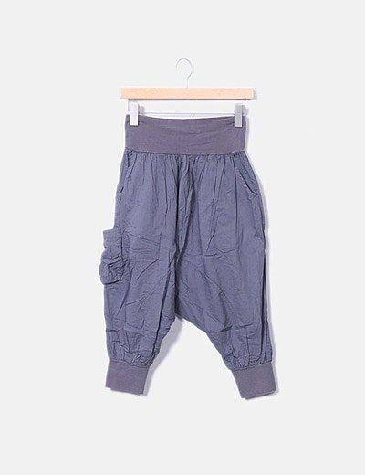 Pantalón gris de gasa
