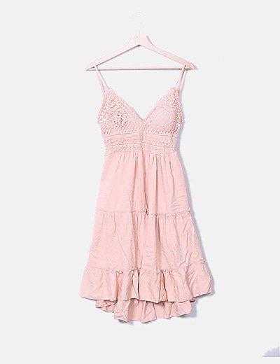 Vestido rosa crochet