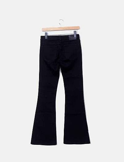 Zara Pantalon Negro Campana Descuento 73 Micolet