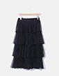 Falda pantalón midi tul negro volantes Bailly Bijoux