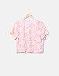 Top rejilla rosa texturizado H&M