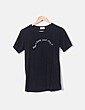 Camiseta negra texto MUZICUN