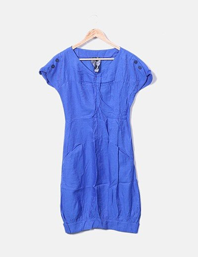 Vestido abullonado azul