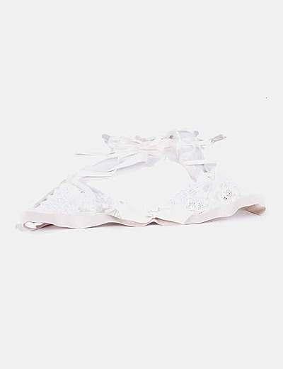 Bralette blanco de encaje