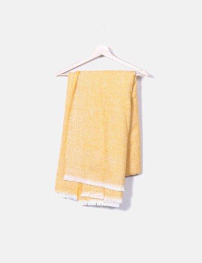 Foulard amarillo zig-zag